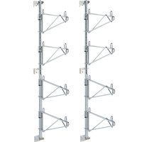 Metro SW46C Super Erecta Chrome Four Level Post-Type Wall Mount End Unit for 21 inch Deep Shelf - 2/Pack