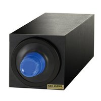 San Jamar C2901BK EZ-Fit Black 1-Slot 8 - 46 oz. Cup Dispenser Cabinet with Black Trim Ring
