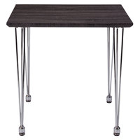 Flash Furniture HG-160307-GG Georgetown 23 3/4 inch x 23 3/4 inch x 21 3/4 inch Charcoal Wood Grain Finish End Table with Chrome Legs