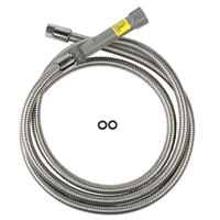 T&S B-0108-HOSE 108 inch Stainless Steel Flex Hose