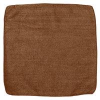 Rubbermaid 1863890 HYGEN Sanitizer Safe 12 inch x 12 inch Brown Microfiber Cloth - 24/Pack