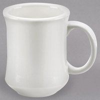 Choice 7 oz. Ivory (American White) Bell Shaped Stoneware Coffee Mug - 12/Pack