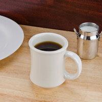 7 oz. Ivory (American White) Bell Shaped China Coffee Mug - 12/Pack