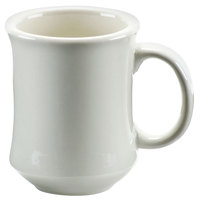 7 oz. Ivory (American White) Bell Shaped China Coffee Mug - 12/Pack
