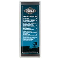 4 1/4 inch x 14 inch Menu Solutions ALSIN44-ST Single Panel Brushed Finish Aluminum Menu Board with Top and Bottom Strips