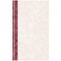 8 1/2 inch x 14 inch Menu Paper Left Insert - Ribbed Marble Border - 100/Pack
