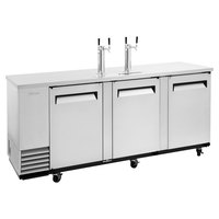 Turbo Air TBD-4SD-N (2) Double Tap Kegerator Beer Dispenser - Stainless Steel, (4) 1/2 Keg Capacity