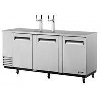 Turbo Air TBD-4SD 90 inch Super Deluxe Stainless Steel Beer Dispenser - 4 Kegs