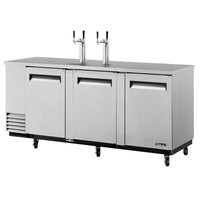 Turbo Air TBD-4SD 90 inch Super Deluxe Stainless Steel Beer Dispenser - 4 Kegs