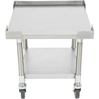 APW Wyott SSS-24C 16 Gauge Stainless Steel 24 inch x 24 inch Standard Duty Cookline Equipment Stand with Galvanized Undershelf and Casters