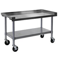 APW Wyott SSS-24C 16 Gauge Stainless Steel 24 inch x 24 inch Medium Duty Cookline Equipment Stand with Galvanized Undershelf and Casters