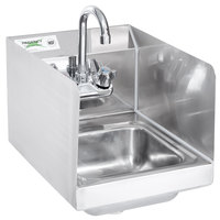 Regency 12 Inch X 16 Inch Wall Mounted Hand Sink With Gooseneck Faucet And  Side Splash ...