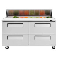 Turbo Air TST-60SD-D4 60 inch 4 Drawer Refrigerated Sandwich Prep Table
