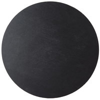 Cal-Mil 1523-12-65 Black 12 inch Round Slate Serving/Display Stone