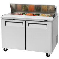 Turbo Air MST-48 48 inch 2 Door Refrigerated Sandwich Prep Table