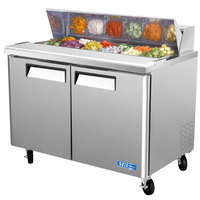 Turbo Air MST-48 48 inch M3 Series Refrigerated Salad / Sandwich Prep Table with Two Doors