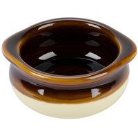 Tuxton B6S-1003 DuraTux 10 oz. Two Tone China Onion Soup Crock / Bowl - 12/Case