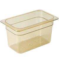 Cambro 46HP150 H-Pan™ 1/4 Size Amber High Heat Plastic Food Pan - 6 inch Deep