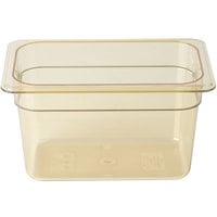 Cambro 46HP150 H-Pan 1/4 Size Amber High Heat Food Pan - 6 inch Deep