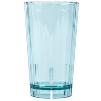 Cambro HT14CW196 Camwear Huntington 14 oz. Azure Blue Customizable Plastic Tumbler - 36/Case
