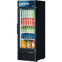 Turbo Air TGM-23SD Black 27 inch Super Deluxe Single Door Refrigerated Merchandiser - 21.1 Cu. Ft.