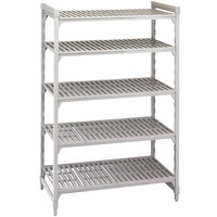 Cambro CPU184864V5480 Camshelving Premium Shelving Unit with 5 Vented Shelves 18 inch x 48 inch x 64 inch