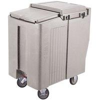 Cambro ICS125T180 Light Gray Sliding Lid Portable Ice Bin - 125 lb. Capacity Tall Model