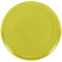 Homer Laughlin 575332 Fiesta Lemongrass 12 inch China Pizza / Baking Tray - 4/Case
