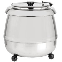 Avantco S30SS 11 Qt. Round Stainless Steel Countertop Food / Soup Kettle Warmer - 110V, 400W