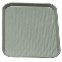 Cambro 1418FF107 Pearl Gray 14 inch x 18 inch Customizable Fast Food Tray 12/Case