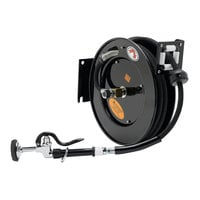 Equip by T&S 5HR-242-01-A 50' Open Hose Reel with High Flow Spray Valve and Reducing Adapter