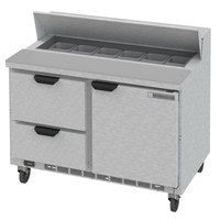Beverage-Air SPED48HC-12-2 48 inch 1 Door 2 Drawer Refrigerated Sandwich Prep Table
