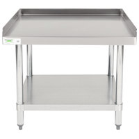 Regency 30 inch x 30 inch 16-Gauge Stainless Steel Equipment Stand with Galvanized Undershelf
