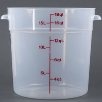Cambro RFS18PP190 18 Qt. Translucent Round Storage Container