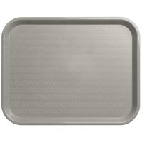 Carlisle CT141823 Customizable Cafe 14 inch x 18 inch Gray Standard Plastic Fast Food Tray - 12/Case
