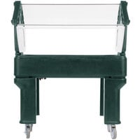 Carlisle 660508 Forest Green 4' Six Star Open Base Portable Food / Salad Bar