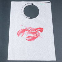 Royal Paper ATB2425A Disposable Paper Lobster Bib - 500 / Case