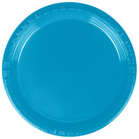 "Creative Converting 28313111 7"" Turquoise Blue Plastic Plate - 240/Case"