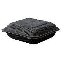 Green Wave Ultra ET-BOO-299 9 inch x 9 inch x 3 inch Black Take Out Box - 50 / Pack