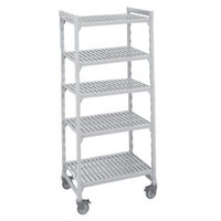 Cambro Camshelving Premium CPMS183675V5480 Mobile Shelving Unit with Standard Casters 18 inch x 36 inch x 75 inch - 5 Shelf