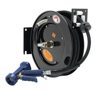 Equip by T&S 5HR-222-12 25' Open Hose Reel with Front Trigger Water Gun