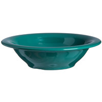 Carlisle 4303609 Durus 12 oz. Meadow Green Rimmed Melamine Bowl - 24/Case
