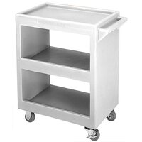 Cambro BC225180 Light Gray Three Shelf Service Cart - 28 inch x 16 inch x 32 1/4 inch