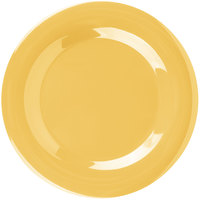 Carlisle 3301022 Sierrus 10 1/2 inch Honey Yellow Wide Rim Melamine Plate - 12/Case