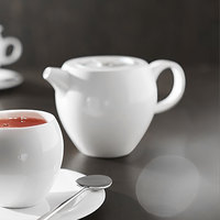 Chef & Sommelier L9619 Nectar 13.5 oz. Bone China Teapot by Arc Cardinal - 8/Case