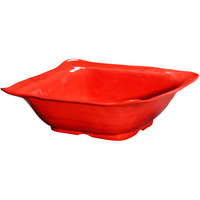 GET ML-131-R New Yorker 4.25 qt. Red Square Catering Bowl - 13 inch