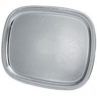 Vollrath 82380 Elegant Reflections 17 7/8 inch x 13 7/8 inch Silver Plated Stainless Steel Oblong Catering Tray
