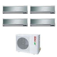 Turbo Air 40,000 BTU Ductless Wall Mounted Multi-Zone Air Conditioner / Heat Pump with Four Indoor Evaporators