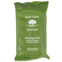 Basic Earth Botanicals Hotel and Motel Wrapped Massage Bath Soap 1.94 oz. Bar - 200/Case