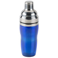 American Metalcraft BSJ16 16 oz. Blue 3-Piece Cobbler Cocktail Shaker